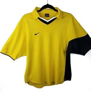 Nike Shirts - Vintage Nike Collar V Neck Rugby Golf Polo Men L